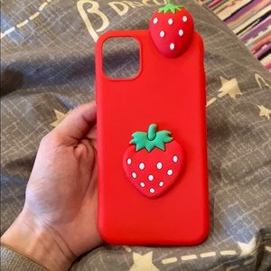 iPhone 11 strawberry case